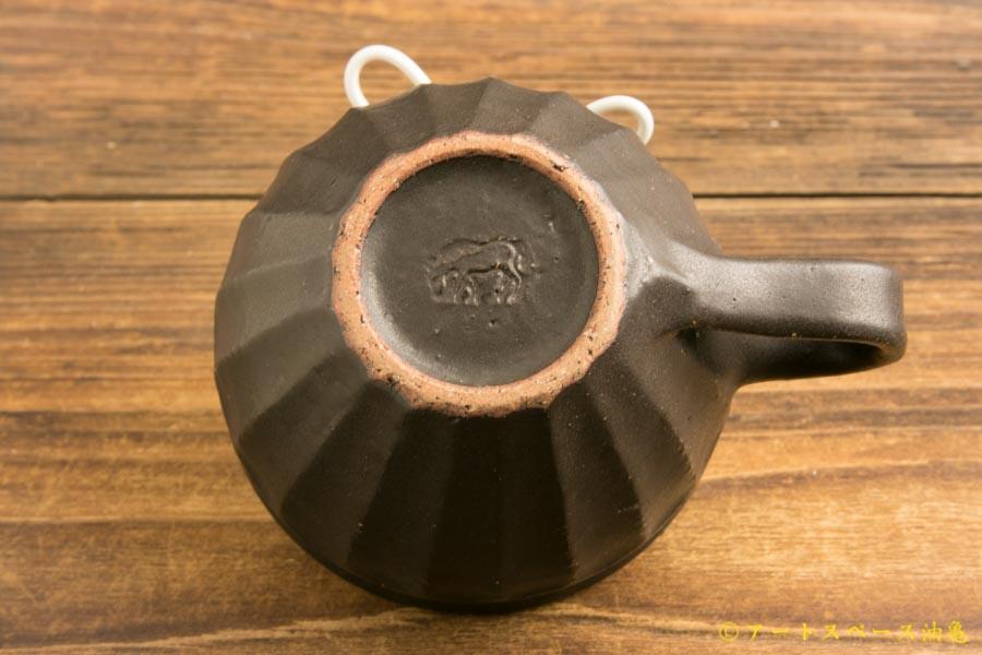 画像5: 長谷川哲也「縞コーヒーカップ広口 黒」