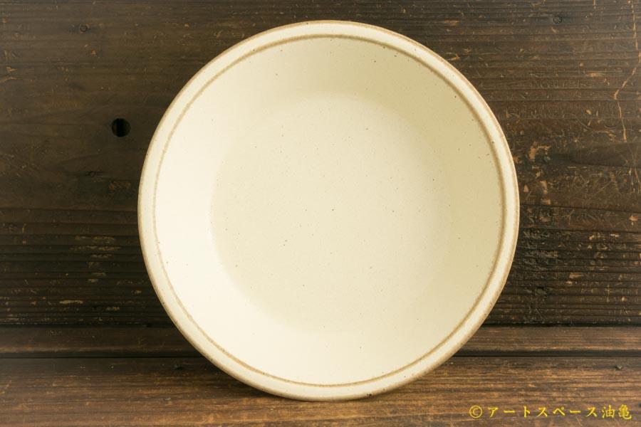 画像1: 長谷川哲也「浅鉢 21cm 白」