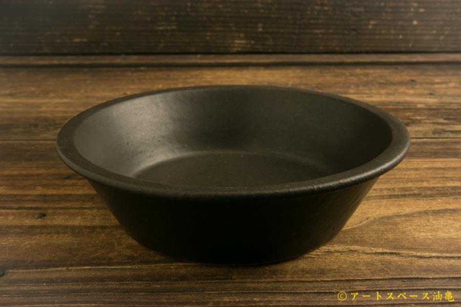 画像1: 長谷川哲也「浅鉢 15cm 黒」