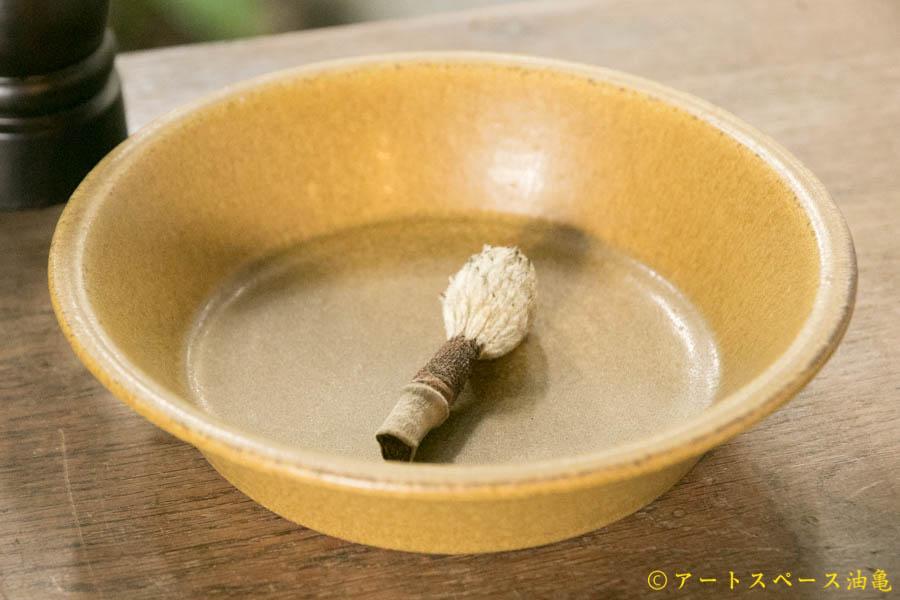 画像1: 長谷川哲也 浅鉢 18cm 芥子【アソート作品】