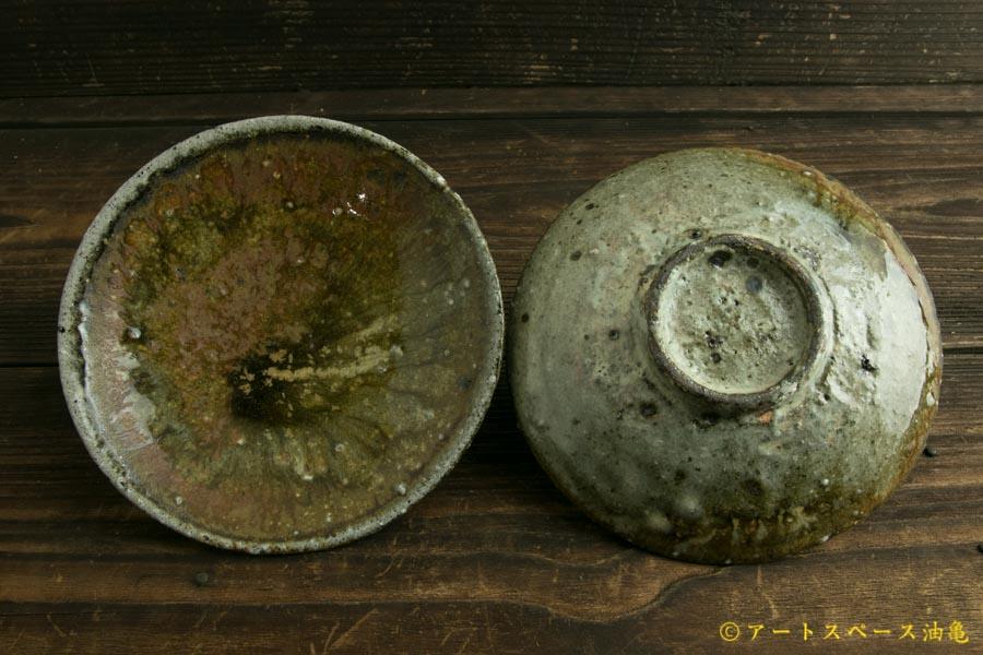 画像3: 八田亨「白掛 窯変5寸皿」