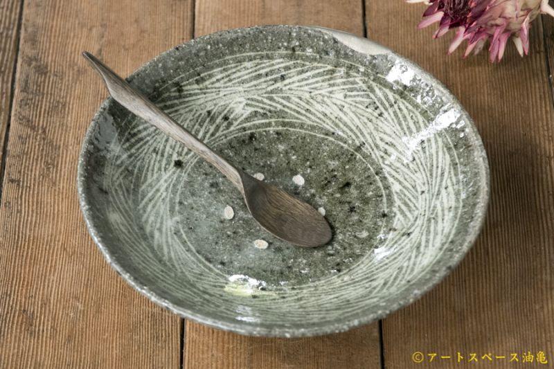 画像1: 八田亨「白掛 7寸皿」