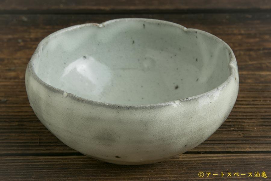 画像1: 八田亨「青粉引 4寸輪花鉢」