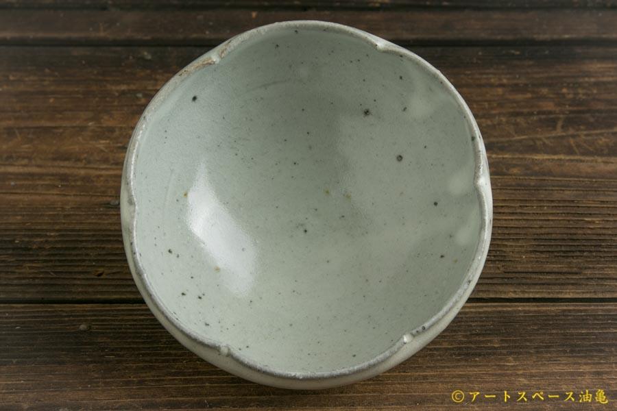 画像2: 八田亨「青粉引 4寸輪花鉢」