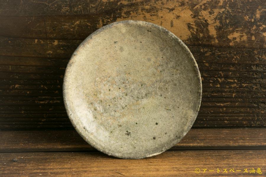 画像1: 八田亨「白掛4寸皿」