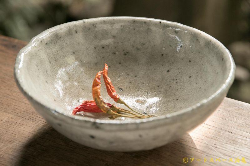 画像1: 八田亨 白掛玉縁6寸鉢