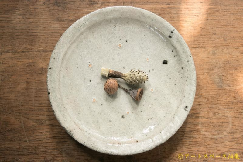 画像1: 八田亨 白掛リム皿