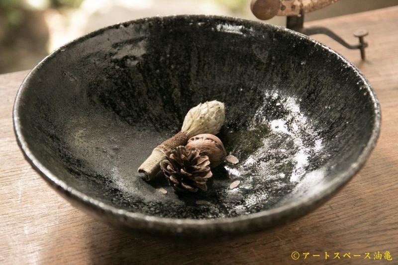 画像1: 八田亨 黒掛7寸鉢