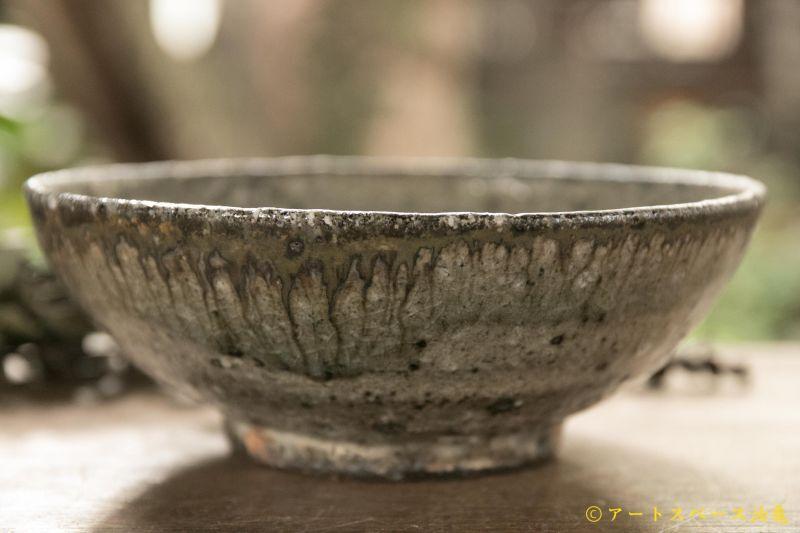 画像1: 八田亨 白掛5寸鉢