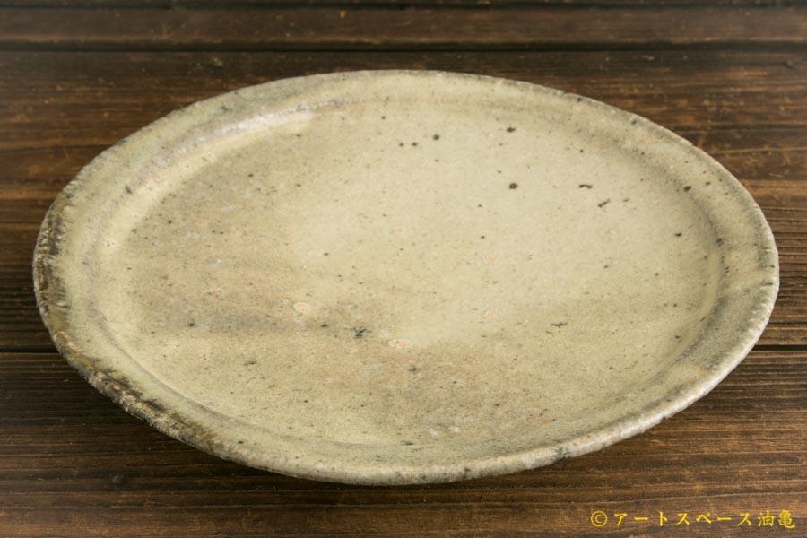 画像2: 八田亨「白掛 リム皿M」
