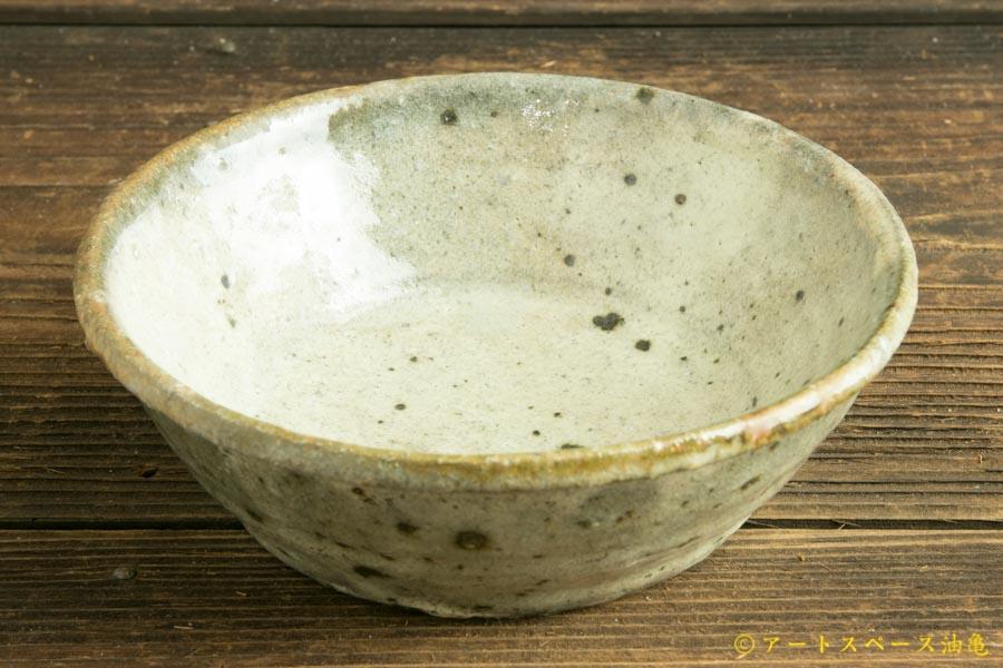 画像1: 八田亨「白掛 玉縁鉢(小)」