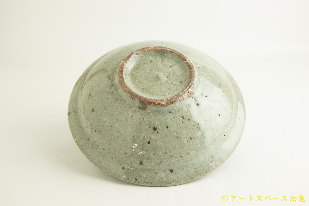 画像4: 八田亨「もも灰釉 7寸リム皿」