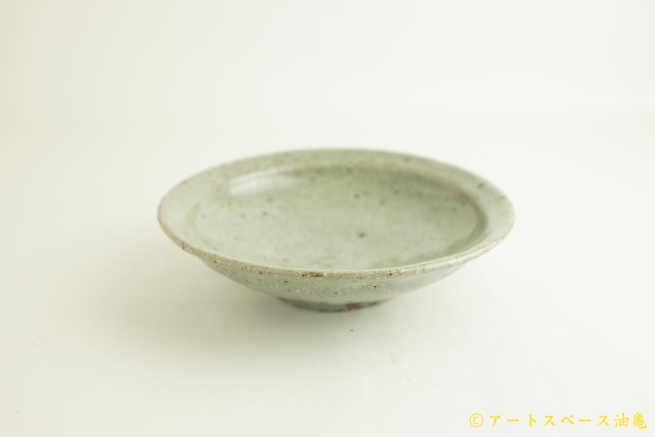画像2: 八田亨「もも灰釉 7寸リム皿」