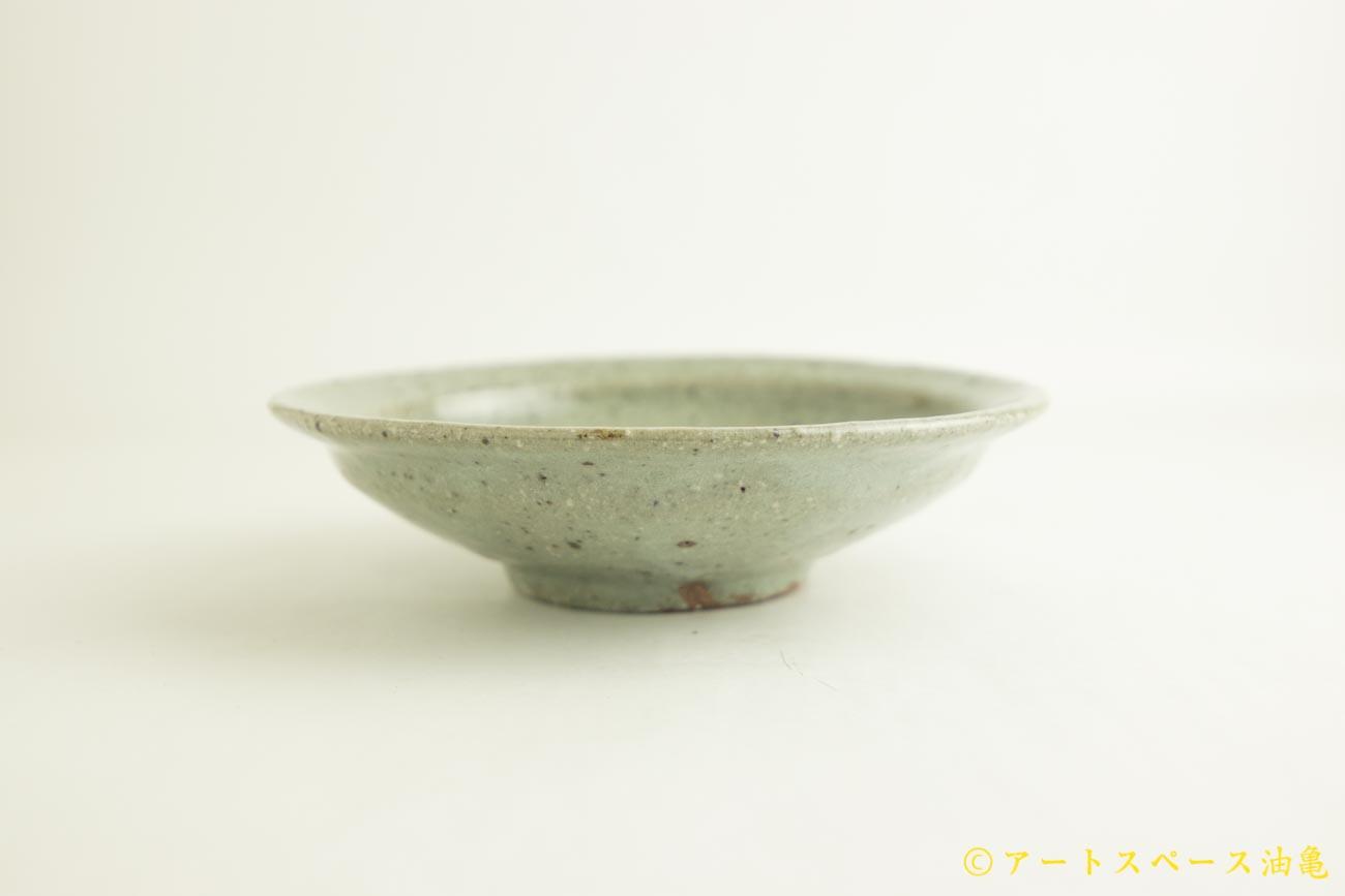 画像3: 八田亨「もも灰釉 7寸リム皿」