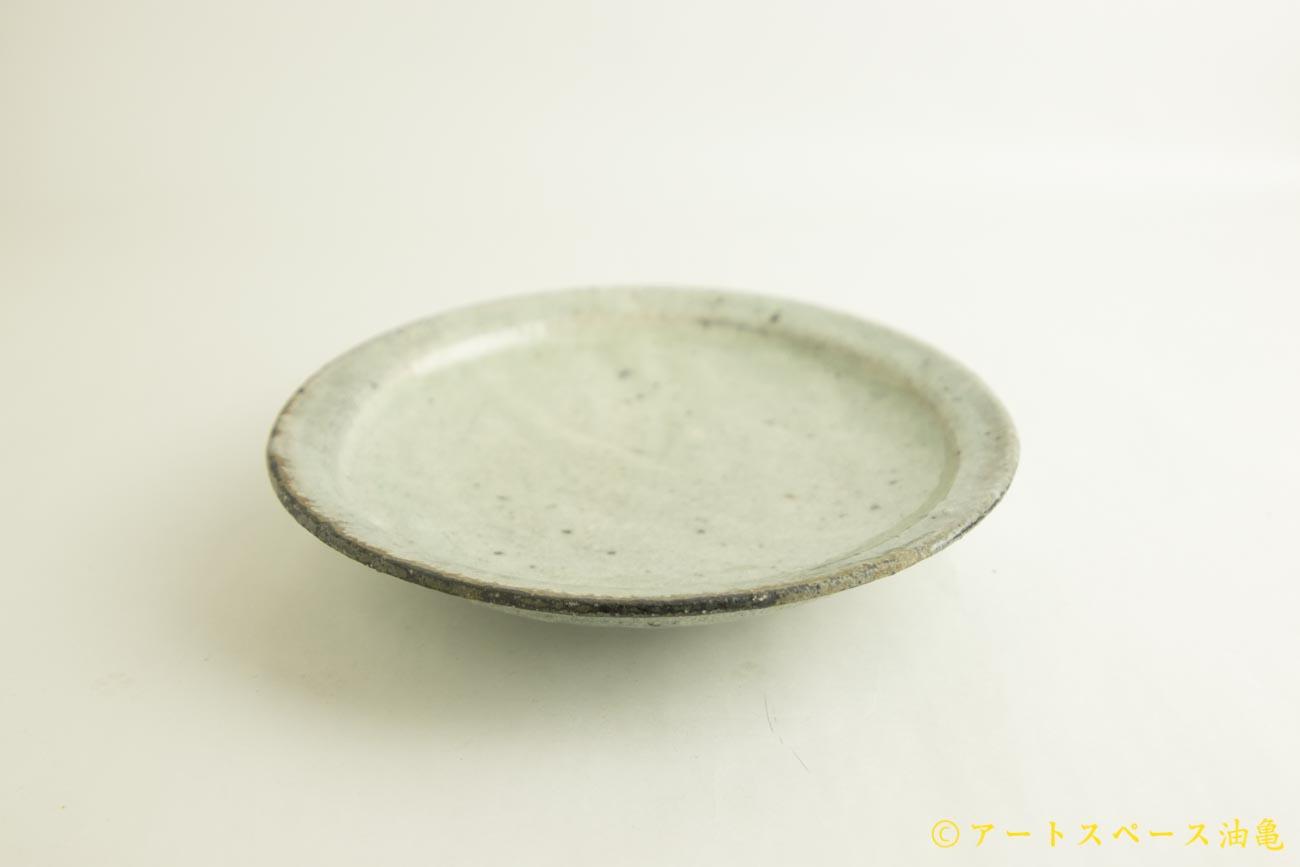画像2: 八田亨「白掛 8寸リム皿」