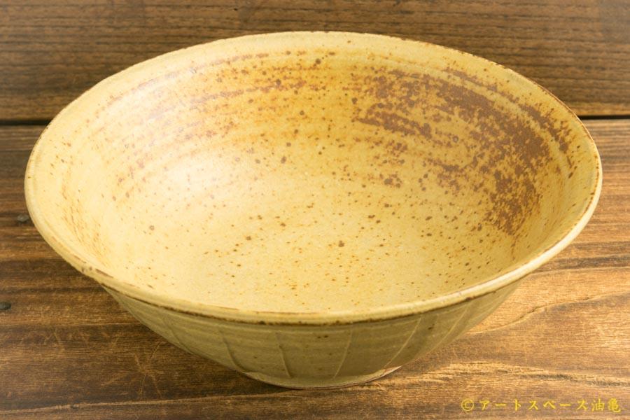 画像2: 林拓児「灰釉 しのぎ鉢」
