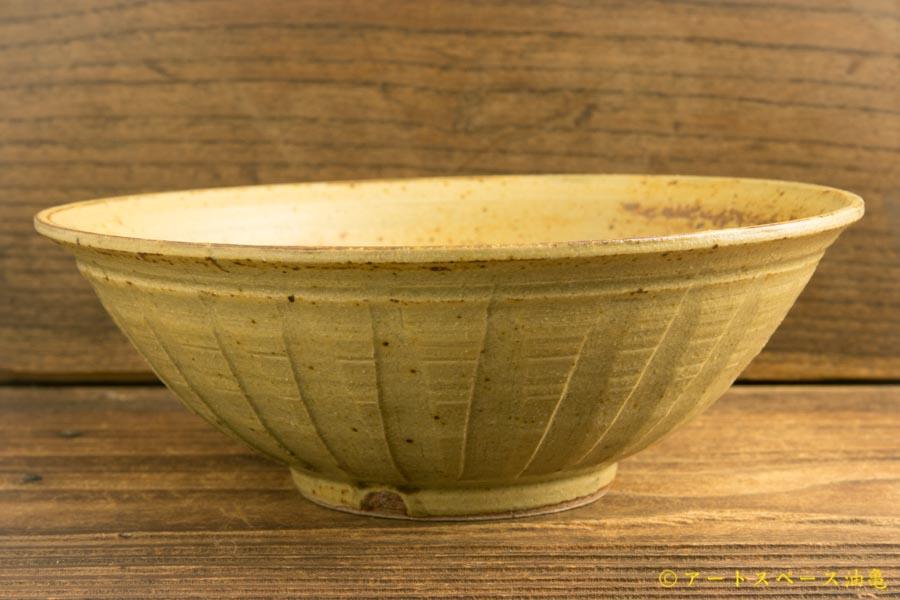 画像1: 林拓児「灰釉 しのぎ鉢」