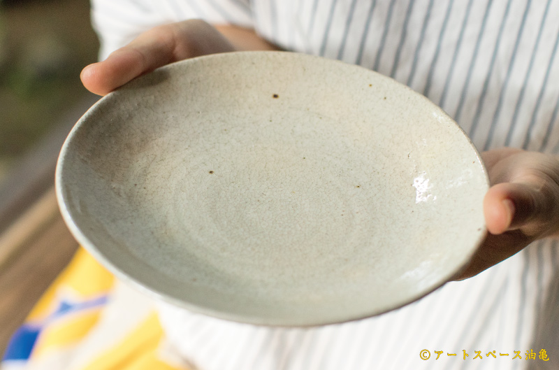画像2: 林拓児「貫入 平皿 6寸」
