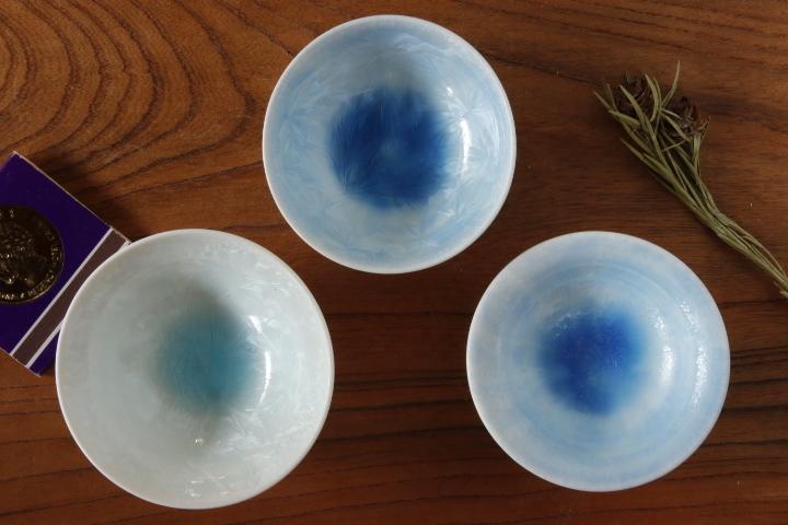 画像1: 間美恵「亜鉛華結晶 豆鉢皿」