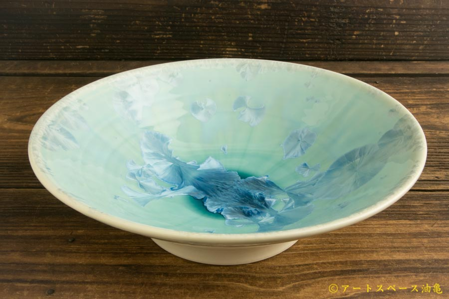 画像2: 間美恵「亜鉛華結晶丸鉢皿」