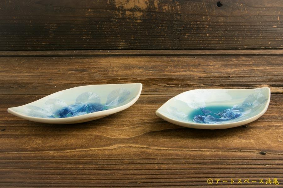 画像2: 間美恵「亜鉛華結晶 葉小皿」