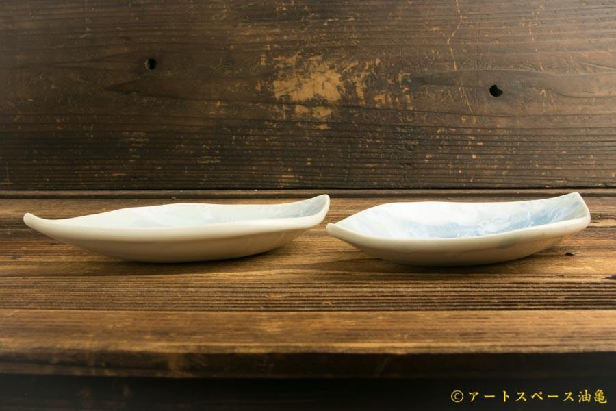 画像4: 間美恵「亜鉛華結晶 葉小皿」