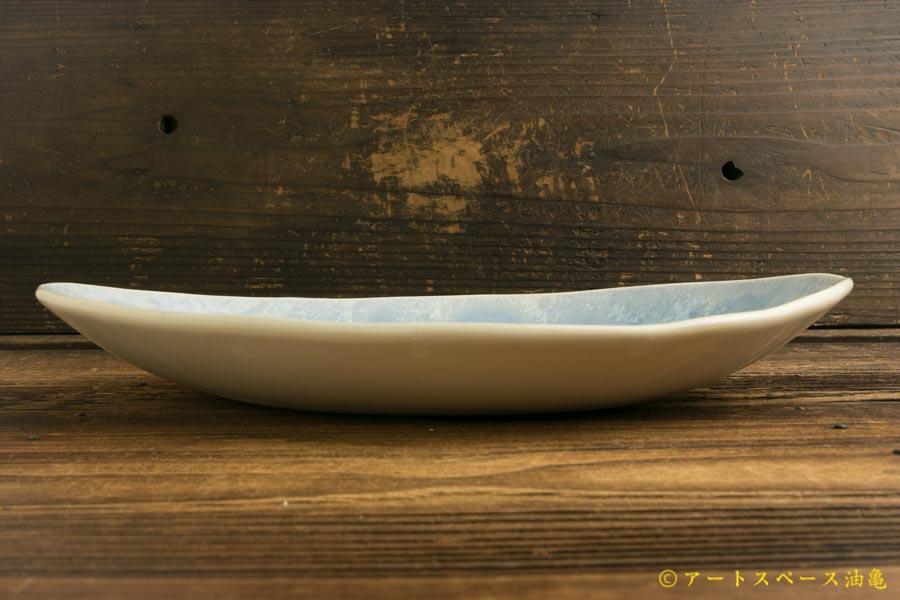 画像3: 間美恵「亜鉛華結晶 楕円皿」