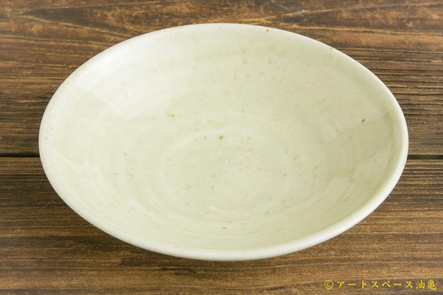 画像2: 日高伸治「にご桃農園 清水白桃灰 浅鉢5寸」