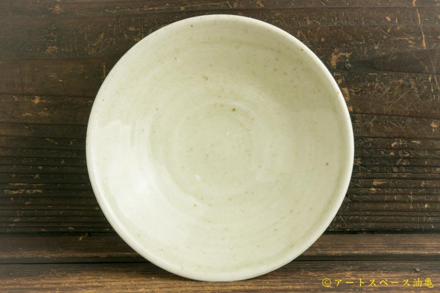 画像1: 日高伸治「にご桃農園 清水白桃灰 浅鉢5寸」