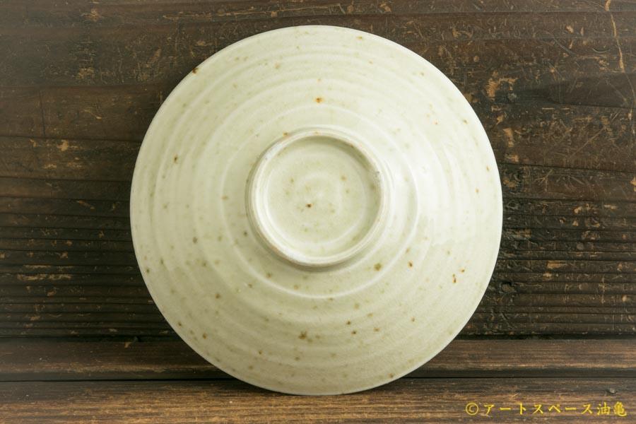 画像4: 日高伸治「にご桃農園 清水白桃灰 浅鉢5寸」