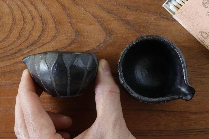 画像2: 肥後博己「黒幾何紋豆片口」