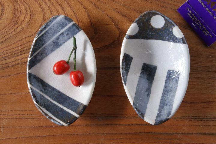画像1: 肥後博己「楕円豆皿」