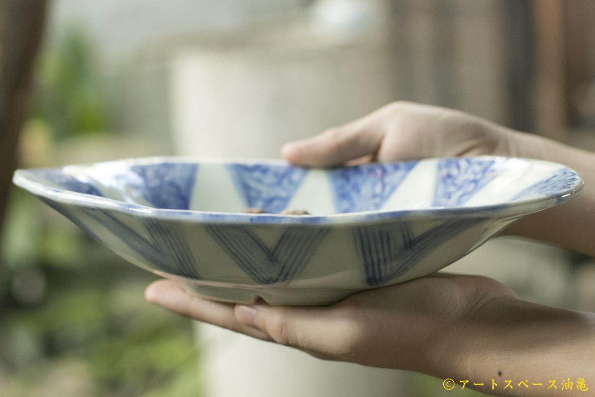 画像3: 肥後博己 印花紋染付楕円鉢