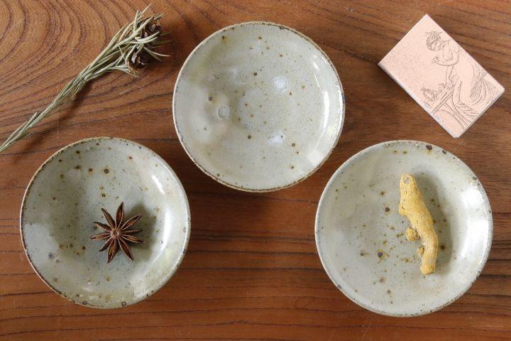 画像1: 平沢崇義「粉引 豆皿」