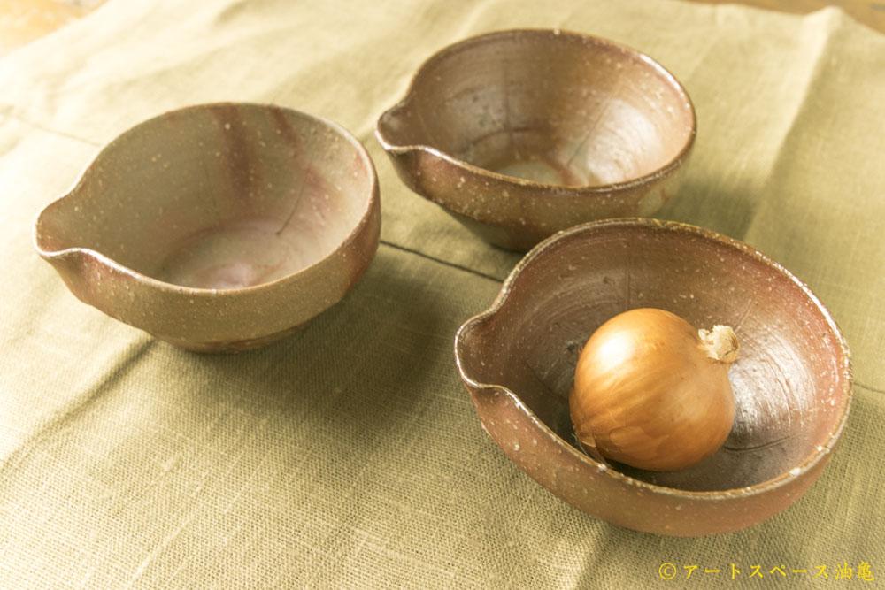 画像1: 細川敬弘 「備前 片口豆鉢」