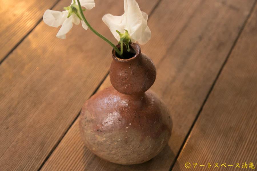 画像1: 細川敬弘 備前 火襷 瓢 徳利