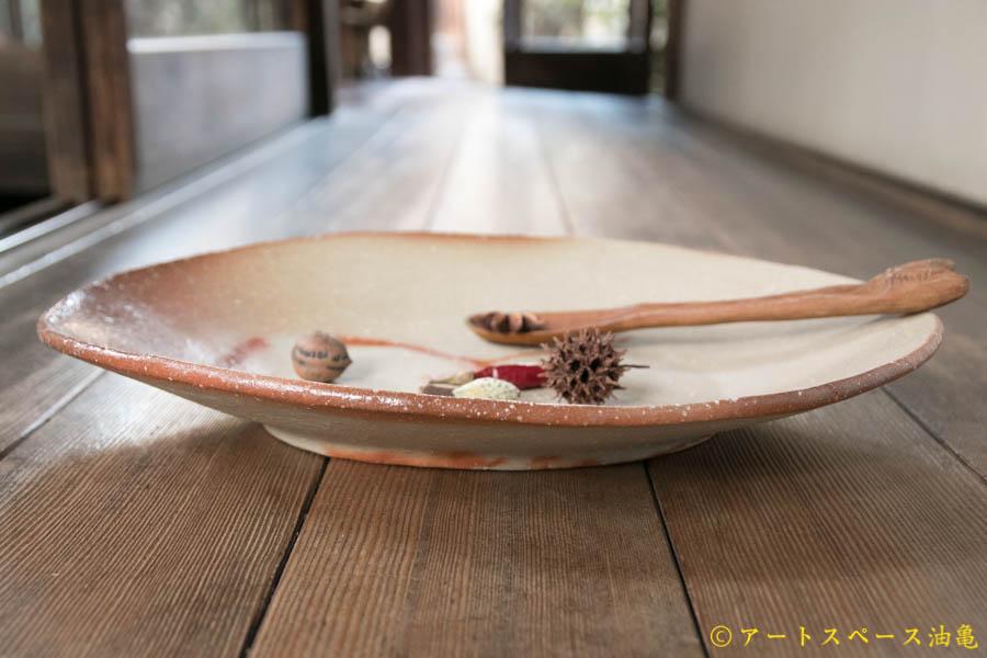画像2: 細川敬弘 備前 楕円皿