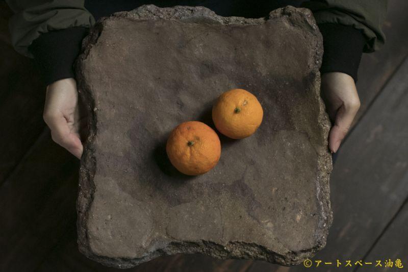 画像1: 細川敬弘 備前 陶片正方皿
