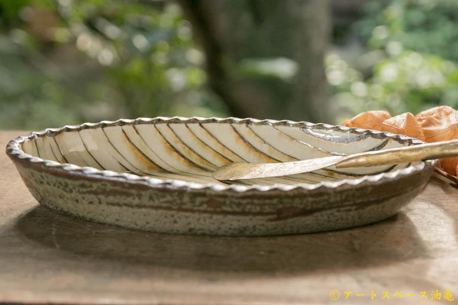 画像2: 井上尚之 スリップ楕円鉢(大)