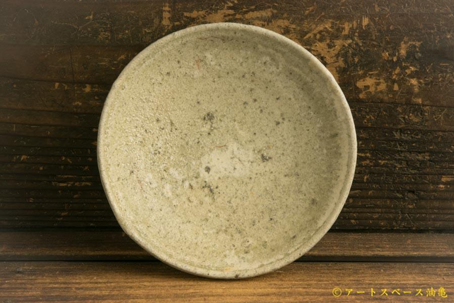 画像2: 加地学「化粧灰釉 4.5寸皿」
