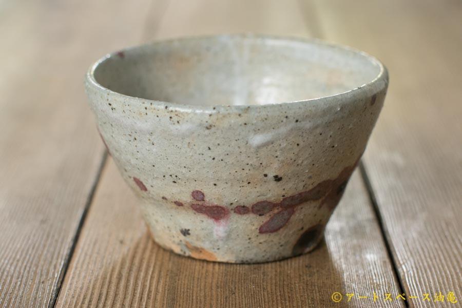 画像2: 加地学 白化粧 銅釉 小鉢