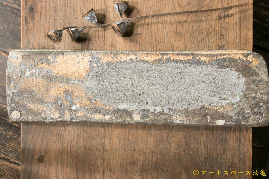 画像4: 加地学 白化粧 灰釉 掛け流し 板皿