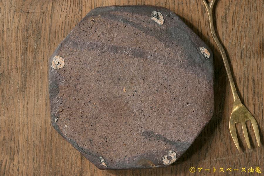 画像4: 加地学 黒化粧 八角皿