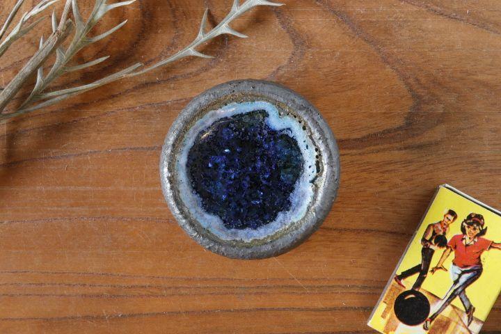 画像1: 加地学「鉄釉 鉢(ガラス)」