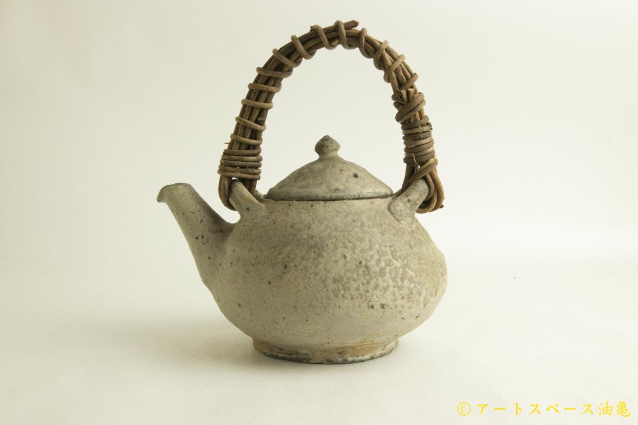 画像1: 加地学「白化粧 灰釉  土瓶」