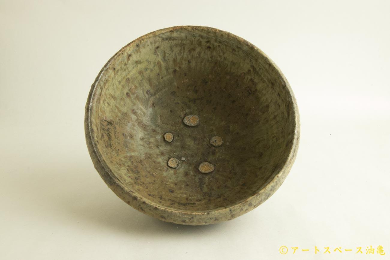 画像1: 加地学「白化粧 灰釉 銅釉  鉢」