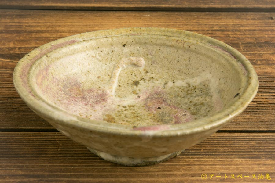 画像1: 加地学「白化粧銅釉 鉢」