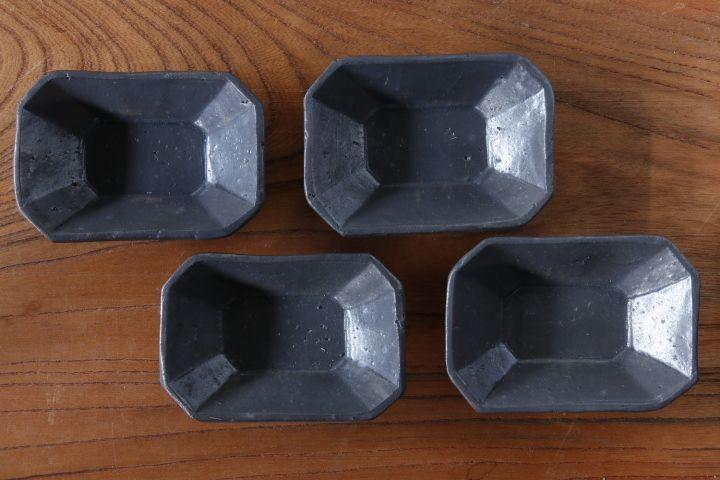 画像1: 加藤祥孝「鉄釉 八角長豆鉢」