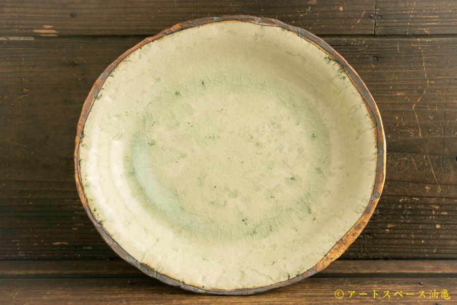 画像1: 加藤祥孝「灰釉 8.5寸楕円深皿」