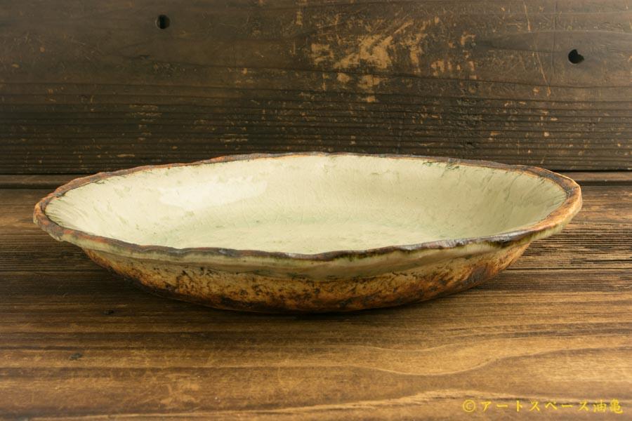 画像2: 加藤祥孝「灰釉 8.5寸楕円深皿」